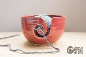 Pink Ceramic Yarn Bowl