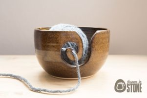 Speckled Brown Yarn Bowl