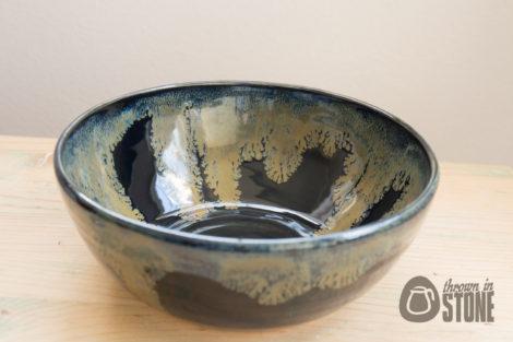 Black and Bronze Handmade Bowl