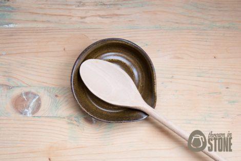 Stoneware Spoon Rest - Kitchen