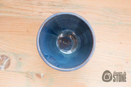 Black and Blue Handmade Stoneware Vase