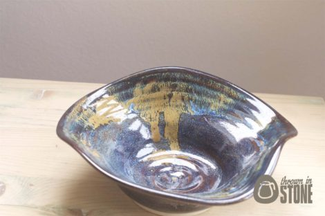 Decorative Bowl - Blue, Amber and Bronze