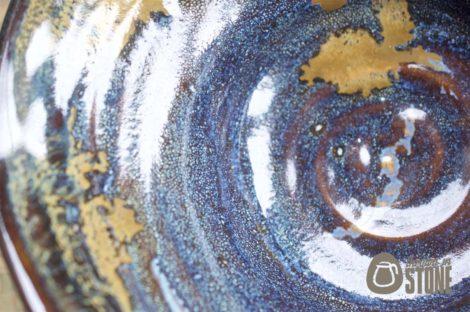 Blue Stoneware Centre Piece