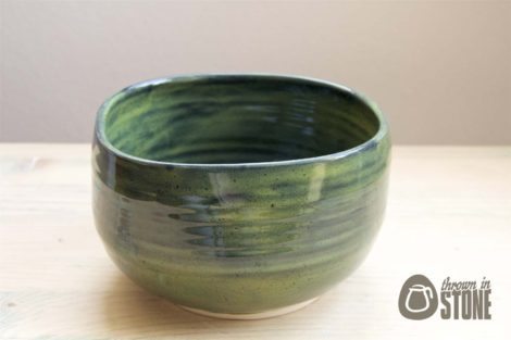 Spinach Green Stoneware Dish