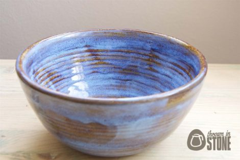 Large Blue and Brown Bowl