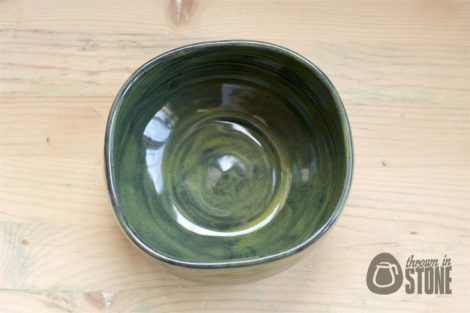 Squared Handmade Bowl - Top View