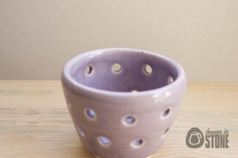 Mauve Tea Light Holder