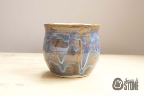 Blue Stoneware Coffee Cup
