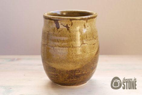 Rustic Stoneware Flower Vase