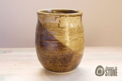 Brown Stoneware Vase