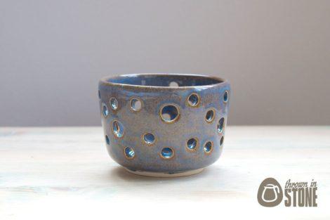 Blue Tea Light Candle Holder