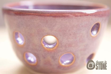 Purple Tea Light Candle Holder