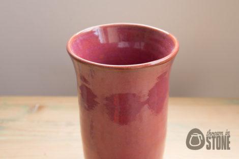 Deep Pink Speckled Vase