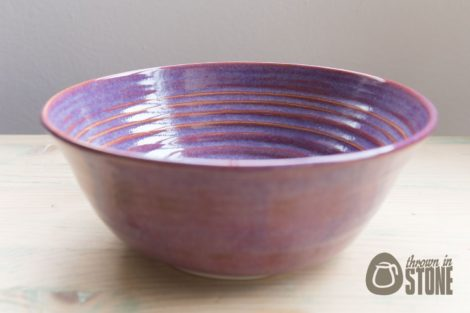 Handmade Purple Serving Bowl