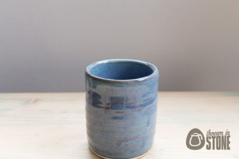 Blue Stoneware Pencil Pot