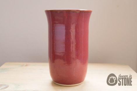 Deep Pink Stoneware Vase