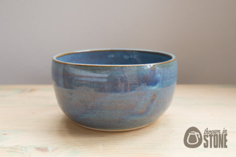 Handmade Stoneware Bowl - Blue