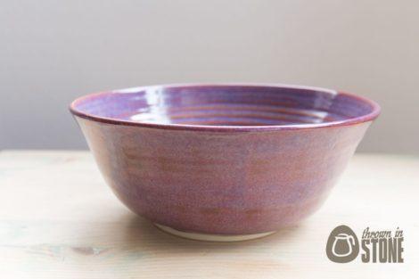 Purple Stoneware Bowl