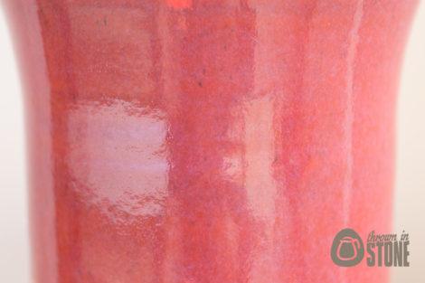 Deep Pink Grapefruit Vase