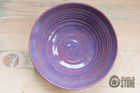 Stoneware Serving Bowl - Purple