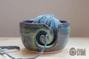 Purple and Blue Yarn Bowl