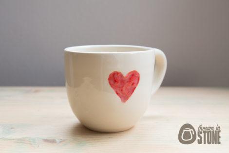 White Heart Mug