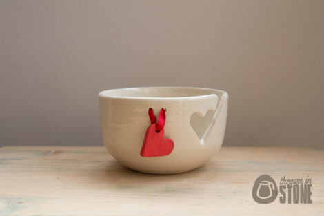 Heart Knitting Bowl