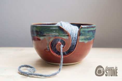 Yarn Bowl Red and Green