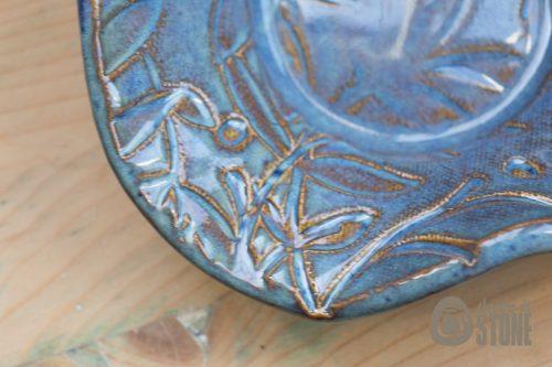 Blue Textured Bowl