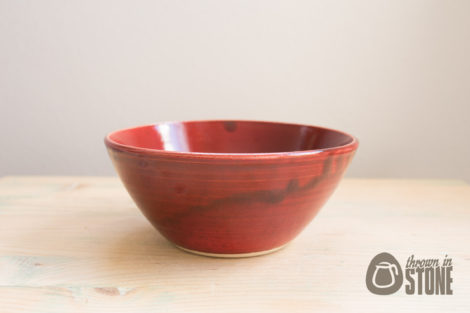 Dark Red Bowl