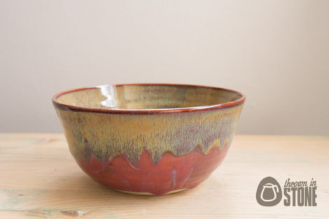 Deep Pink and Rust Decorative Bowl UK