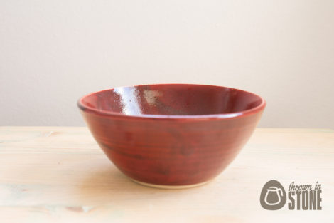 Dark Red Bowl Stoneware