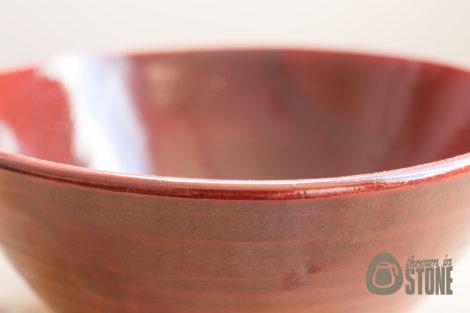 Speckled Dark Red Stoneware Pottery