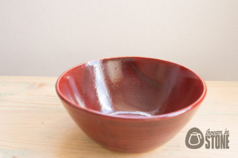 Red Stoneware Bowl