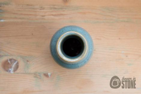 Handmade Stoneware Bottle Vase