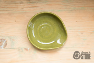 Olive Green Stoneware Spoon Rest