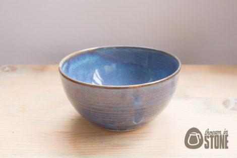 Denim Blue Ceramic Bowl