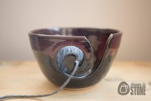 Purple and Black Yarn Bowl